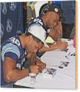 Toronto Argonauts Players Signing Autographs Wood Print by Valentino Visentini