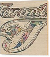 Toronto Blue Jays Logo Art Wood Print