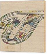 Toronto Blue Jays Poster Vintage Wood Print