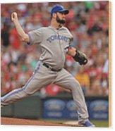 Toronto Blue Jays V Cincinnati Reds Wood Print