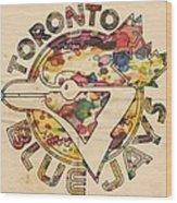 Toronto Blue Jays Vintage Art Wood Print