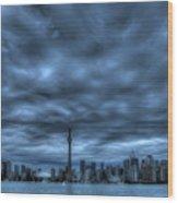 Toronto Blue Wood Print