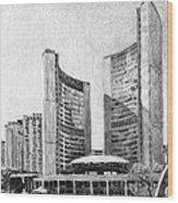 Toronto City Hall I Study Wood Print