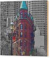 Toronto Flat Iron Building Version 2 Wood Print