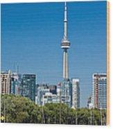 Toronto Harbour Wood Print