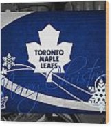 Toronto Maple Leafs Christmas Wood Print