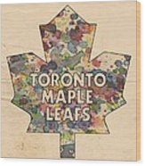 Toronto Maple Leafs Hockey Poster Wood Print