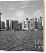 Toronto On Skyline Wood Print