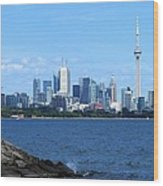 Toronto Ontario Canada Skyline Wood Print