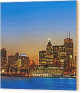 Toronto Skyline Panorama Wood Print