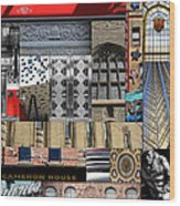 Toronto Textures 1 Wood Print