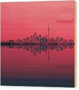 Toronto With A Twist Wood Print