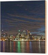 Toronto's Dazzling Skyline  Wood Print