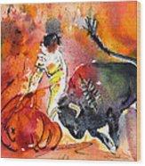 Bullfighting The Reds Wood Print