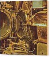 Torpedo Chamber Uss Bowfin Wood Print