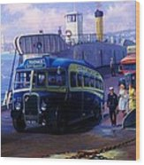 Torpoint Ferry. Wood Print