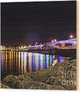 Torquay Lights Wood Print