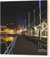 Torquay Victoria Parade At Night Wood Print