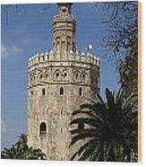 Torre Del Oro Wood Print