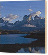 Torres Del Paine, Patagonia, Chile Wood Print