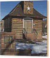 Torrey Log School And Church Utah Wood Print
