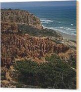 Torrey Pines Coastal View Wood Print