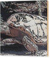 Tortoise Of Stone Wood Print