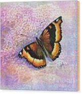 Tortoiseshell Butterfly Wood Print