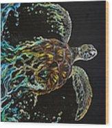 Tortuga Wood Print