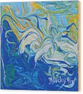 Tossed In The Waves Wood Print