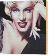 Totally Marilyn Wood Print