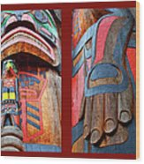 Totem 2 Wood Print by Theresa Tahara