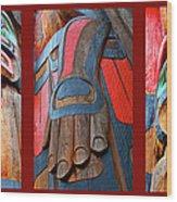 Totem 3 Wood Print