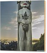 Totem At White Rock Wood Print