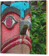 Totem Face Wood Print
