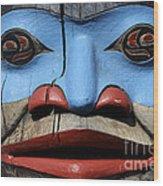 Totem Pole 4 Wood Print