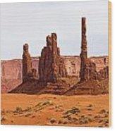 Totem Pole Buttes Wood Print