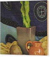 Totem Pole Cacti 2 Wood Print