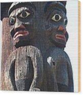 Totem Twins Wood Print