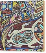 Totem Wolf Mother Spirit Wood Print