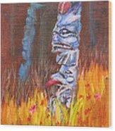 Totems Of Haida Gwaii Wood Print