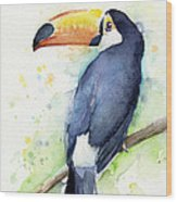 Toucan Watercolor Wood Print