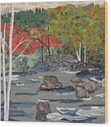 Touch Of Autumn Wood Print by Anita Jacques