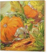 Touch Of Autumn Wood Print by Barbara Pirkle