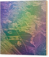 Touch Of Rainbow. Rainbow Earth Wood Print by Jenny Rainbow