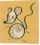 Thoughts And Colors Series Mouse Wood Print