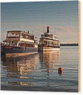 Tour Boats Lake Geneva Wi Wood Print