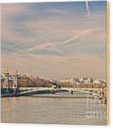 Tour Eiffel And Alexandre IIi Bridge - Paris  Wood Print