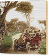 Royal Tourist Touring Car On The 17 Mile Drive Pebble Beach California Circa 1910 Wood Print