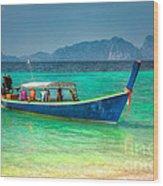 Tourist Longboat Wood Print